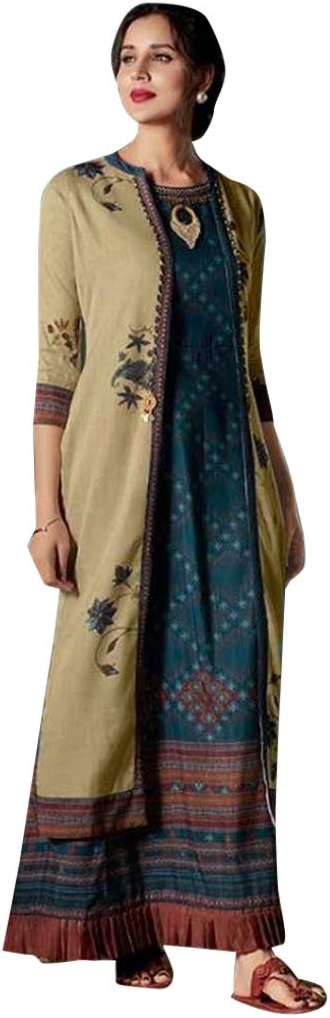 ETHNIC EMPORIUM Damen Indian Ethnic Ganzkörper Ausgestellte Kurtis
