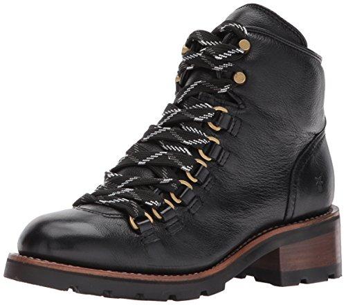 FRYE Women's ALTA Hiker Ankle Bootie, Black, 7.5 M US ()