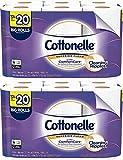 Cottonelle Ultra ComfortCare Toilet Paper, Soft Bath Tissue, Septic-Safe, 12 Big Rolls - 2 Pack