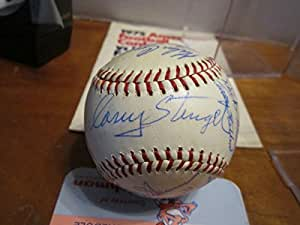 1963 new York Mets Team Signed Baseball 20 signatures Casey Stengel