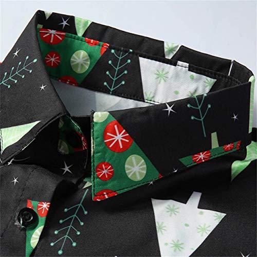 Neige Santa Top Manches Candy Imprimée Noël Vert De Flocons Femmes Chemisier Bellelove Chemise Quotidienne Hommes Imprimé Longues Blouse À Casual wPzYpxZZq