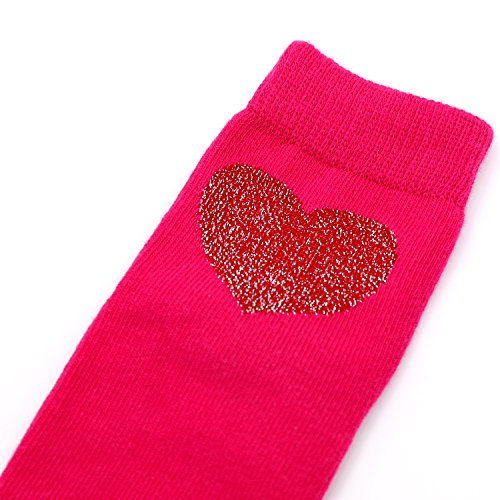 Crew Socks for Girls, Toddler Big Little Kids' Cotton Socks with Fashion Novelty Love Hearts, Polka Dots, Stripes - 6 Pairs by IMOZY (Image #3)