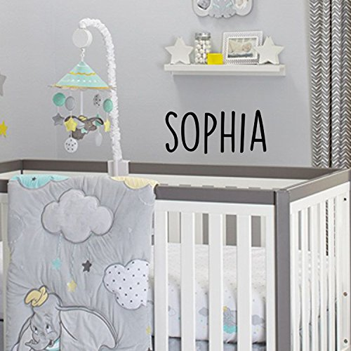 (Vinyl Wall Art Decal Girls Custom Name - 'Sophia' Custom Text Name - 12