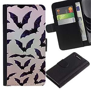 Planetar® Modelo colorido cuero carpeta tirón caso cubierta piel Holster Funda protección Para Sony Xperia Z1 Compact / Z1 Mini / D5503 ( Halloween)