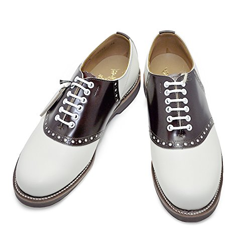 GLAD HAND x REGAL SADDLE SHOES (WHITE× BROWN) グラッドハンド x リーガル サドルシューズ B076H5M32F 26