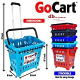 dbest products Gocart, Teal (5 Pack) Grocery Cart