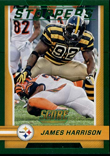 2016 Score Stoppers Green #9 James Harrison Steelers Football Card NM-MT