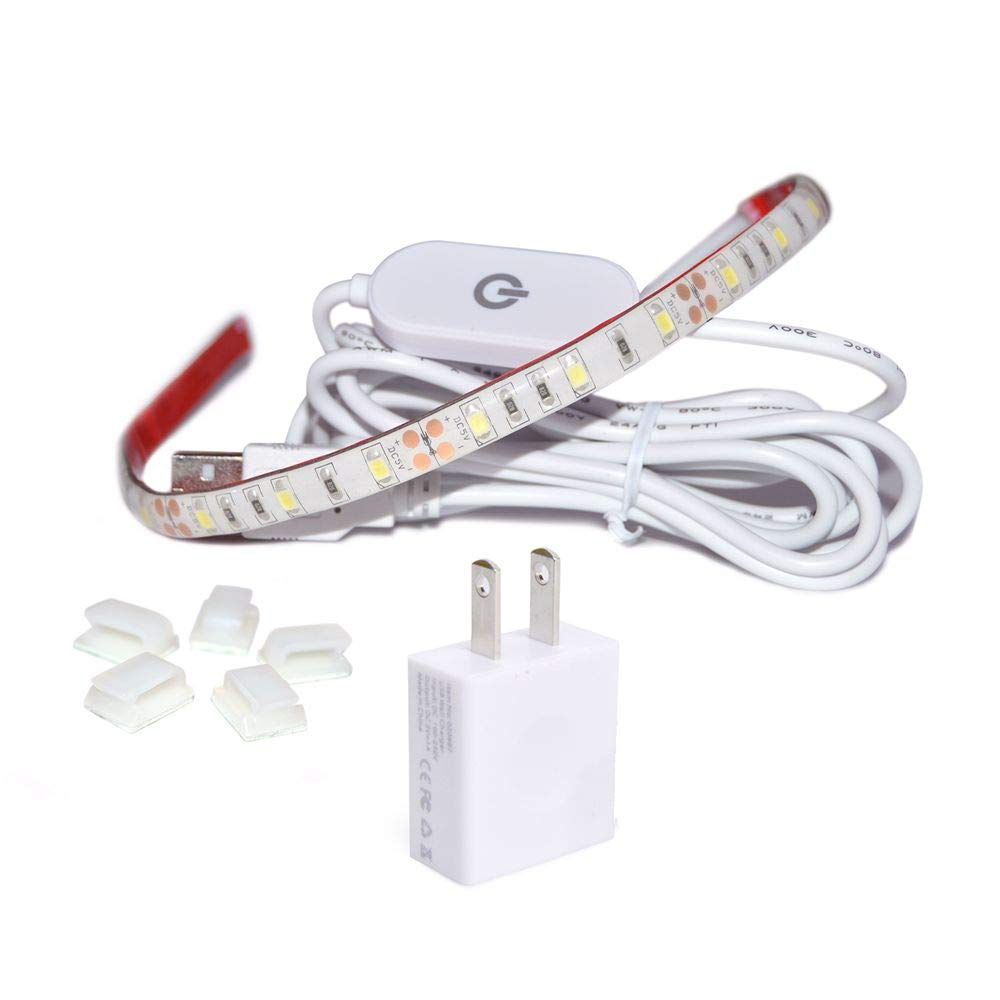 WENICE Sewing Machine led Lighting, LED Strip kit Pure White with Touch dimmer and USB Power