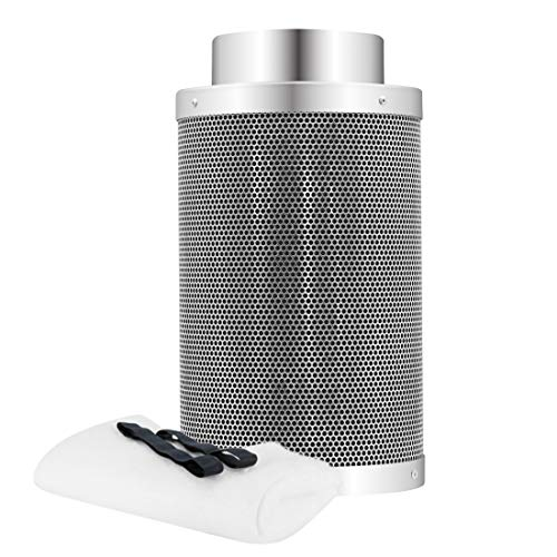 Y YOOMALL Air Carbon Filter, 6 Inch Odor Control Grow Tent Scrubber for Inline Fan with Australian Virgin Charcoal, Pre-Filter Included