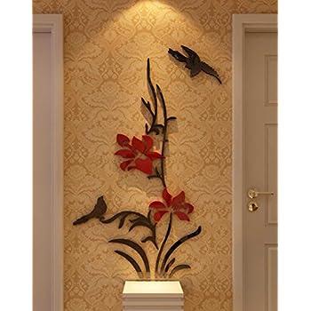 Amazoncom 3d Creative Flower Wall Murals for Living Room Bedroom