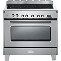 Verona Classic VCLFSEE365SS 36' Pro Electric Range Single Oven Stainless Steel