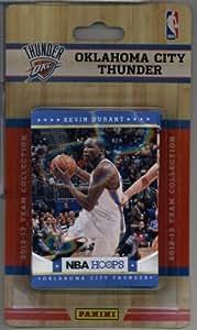 2012-13 Panini NBA Hoops Oklahoma City Thunder Team Set (12 Cards ) Kevin Durant, Russell Westbrook, James Harden, 2 Serge Ibaka, Perkins, Fisher, Brooks, Collison, Cook, Jackson RC & Perry Jones III RC!