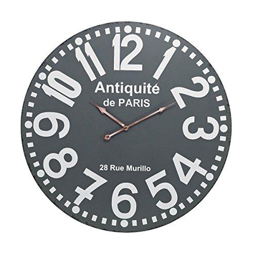 Elk Antiquite Wall Clock, Grey, White