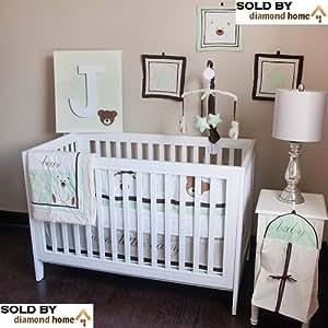 10 Piece Baby Bear Teddy Baby Bedding Crib