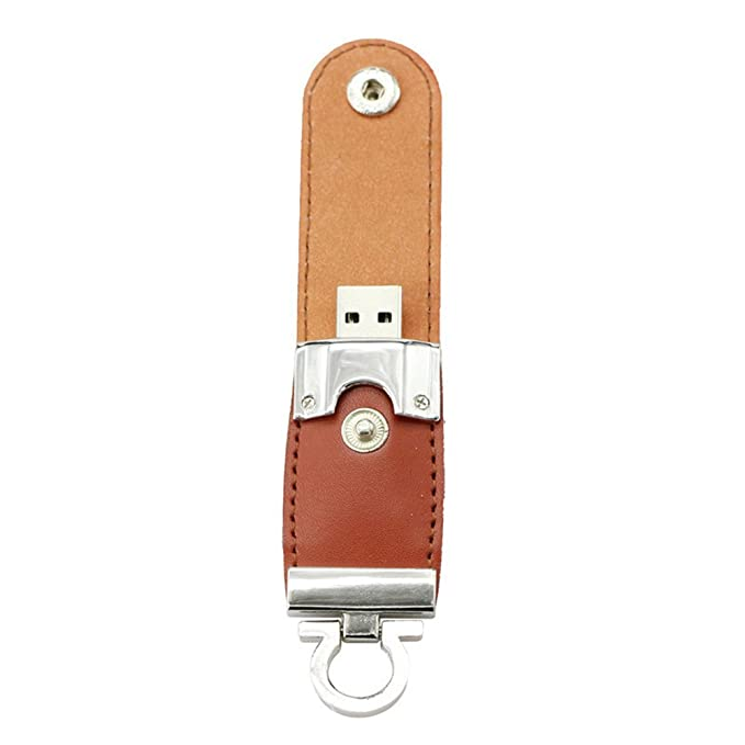 Amazon.com: 64GB Brown PU Key Chain USB 2.0 Flash Driver Pen ...
