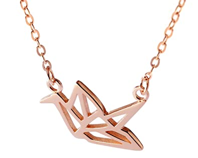 Amazon Hanfly Paper Cranes Necklace Sterling Silver Necklace