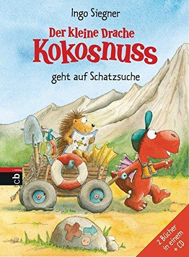 Der kleine Drache Kokosnuss geht auf Schatzsuche: Set aus 2 Bänden mit CD (Sammelbände, Band 2)