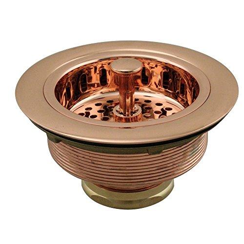 - Westbrass D214-10 3-1/2-Inch Post Basket Strainer, Polished Copper
