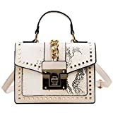 Evening Crossbody Bags for Women Designer Shoulder Bag Leather Elegant Crossbody Bag Handbags with Chain (Beige)