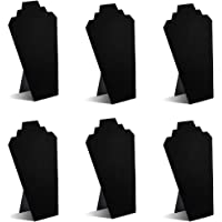 TWING Black Velvet Necklace Jewelry Display Organizer Stand 6pcs/pack 12.5inches