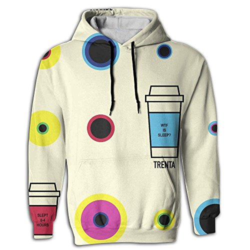 PINPINTA 3D Christmas Printed Sweatshirt Pullover Hoodie Tall Grande Venti Trenta Slept Wtf Long Sleeve Pullover For Daughter S-2XL Wtf Christmas Ornaments