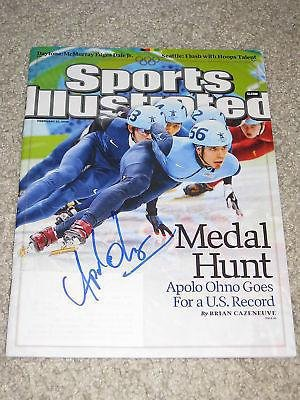 Apolo Anton Ohno Signed Sports Illustrated Olympics Nyc - Autographed Olympic Magazines