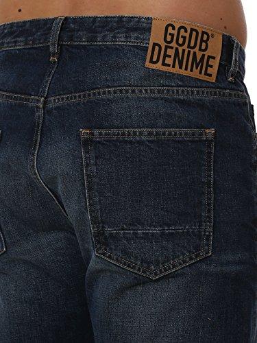 Golden Goose Homme G30MP509A3 Bleu Coton Jeans