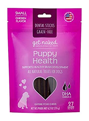 Get Naked Grain Free Puppy Health Dental Chew Sticks, Small by NPIC-The Makers of N-Bone (Natural Polymer International Corporation)