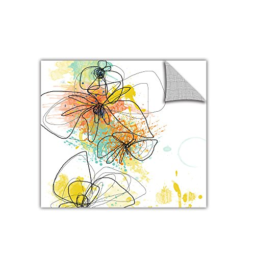 ArtWall Art Appealz Orange Botanica Removable Wall Art Graphic by Jan Weiss, 24 by ()