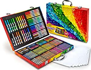 Crayola Inspiration Art Case: 140 Pieces, Deluxe Set with Crayons, Pencils, Markers and Paper in a Portable Storage Case, Great Gift for Boys and Girls,  Our Best Selling Art & Craft Colouring Set!