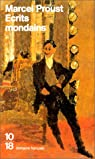 Ecrits mondains par Proust