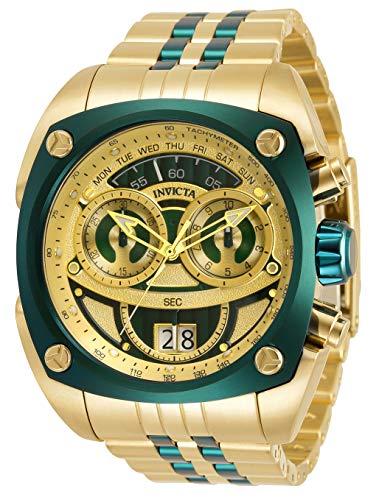 Reloj de cuarzo para hombre Invicta Reserve con correa de acero inoxidable, dorado, 28 (modelo: 32074)