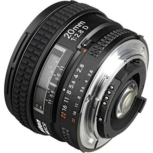Nikon AF FX NIKKOR 20mm f/2.8D Fixed Zoom Lens with Auto Focus for Nikon DSLR Cameras