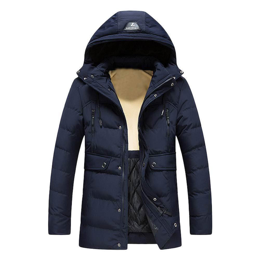 conqueror Manteau Trench-Coat Chaud Jacket Outwear Coat Subfamily Homme Veste à Capuchon Blousons Chaud Veste Zip Hiver Veste Slim Fit Rechargeable réglages Chaleur Veste Rembourrée en Coton Gilet