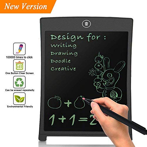 BONBON 8.5 inch LCD Writing Tablet Doodle Board Kids Writing Pad, Electronic Writing Board,Graphic Pad,Digital Drawing Board for Childrens Kids Gifts,Elder Message Board,Family Memo and ()