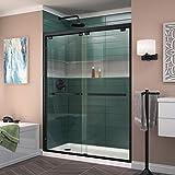 DreamLine Encore 50-54 in. W x 76 in. H Frameless Semi-Frameless Bypass Shower Door in Satin Black, SHDR-1654760-09