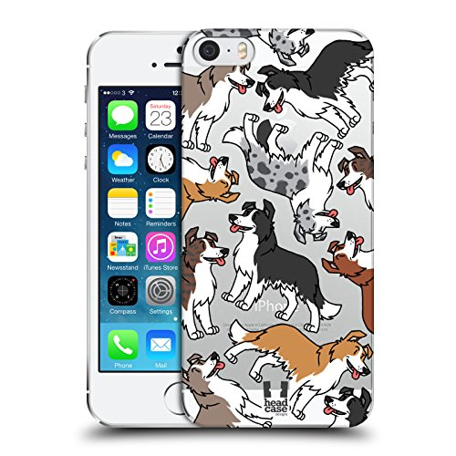 Head Case Designs Border Collie Dog Breed Patterns 6 Hard Back Case Compatible for iPhone 5 iPhone 5s iPhone SE