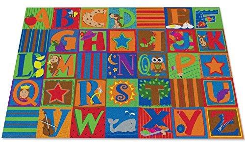 Kid Carpet FE798-22A Letter Seating Nylon Area Rug 4' x 6' Multicolored [並行輸入品] B07HLF22CF