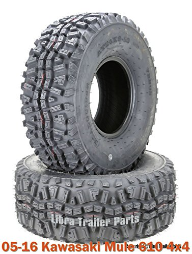 (2) 24x9-10 ATV Front Tire Set for 05-16 Kawasaki Mule 610 4x4 - Kawasaki Mule Tires