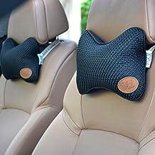 Car Neck Pillow,Suninbox Ice Silk Neck Pillow For Car,Chair.Bamboo Charcoal,Ice Silk,Four Seasons General Car Headrest Pillow Black [a pair]