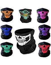 8PCS/Set Ghost Seamless Skull Elasticity Motorcycle Face Tube Mask Riding Headwear Headband Bandana