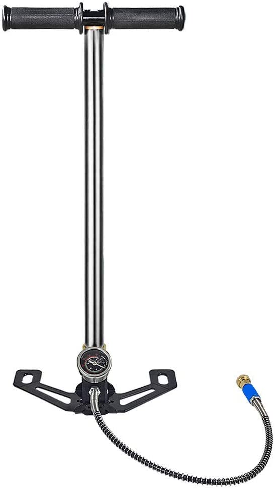 MENGS PCP Bomba de Aire de pie 4500psi / 30MPa, Bomba De Bicicleta Profesional, Acero Inoxidable + Cobre Bombas de pie