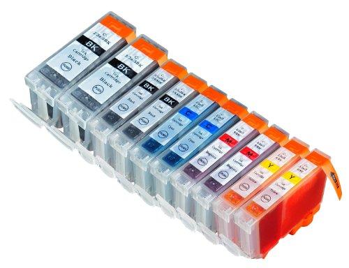 10 Pack Compatible Canon CLI 8 , CLI-8 , CLI8 , PGI 5 , PGI-5 , PGI5 2 Cyan, 2 Magenta, 2 Yellow, 2 Small Black, 2 Big Black for use with Canon Pixma iP4200, Pixma iP4300, Pixma iP4500, Pixma iP5200, Pixma iP5200R, Pixma MP500, Pixma MP530, Pixma MP600, P