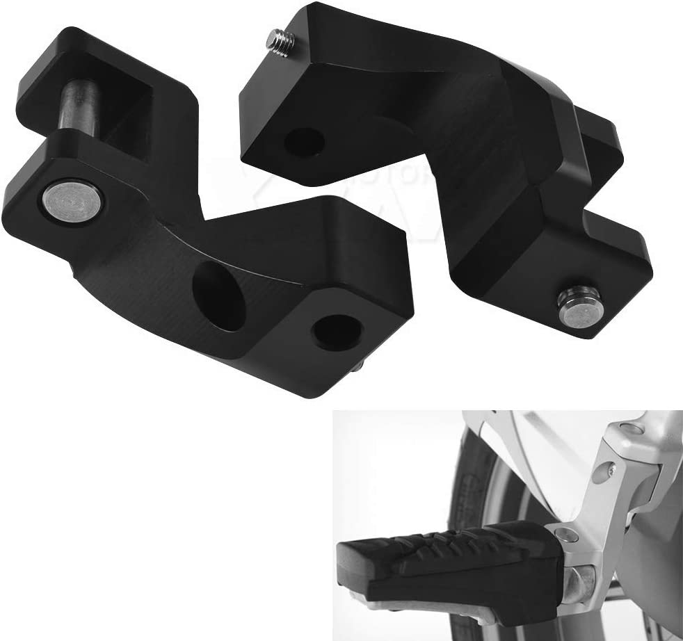 for BMW R1200GS LC 2013-2018 R1200 GS LC ADV 2014-2018 Motorcycle Passenger Footpeg Lowering Kit Foot peg Black