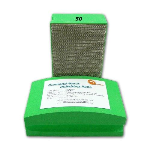 Diamond Hand Polishing Pads for Stone/Concrete - Set of 7 Pcs