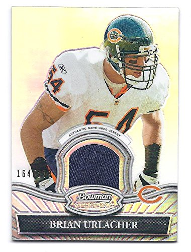 BRIAN URLACHER 2010 Bowman Sterling #BSRBU REFRACTOR PARALLEL Game-Used JERSEY Card #164 of only 299 Made! Chicago Bears - Bears Brian Urlacher Jersey
