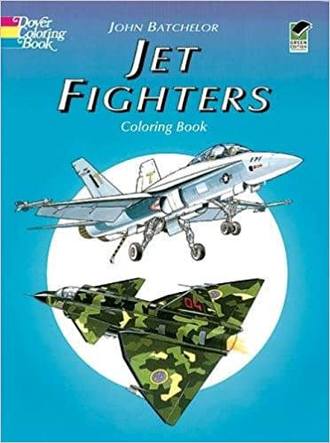 jet fighters coloring book john batchelor 0800759403578 amazoncom books