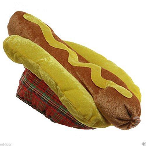 Hamburger And Hotdog Costumes (Jacobson Hat Company Velvet Hot Dog Hat)
