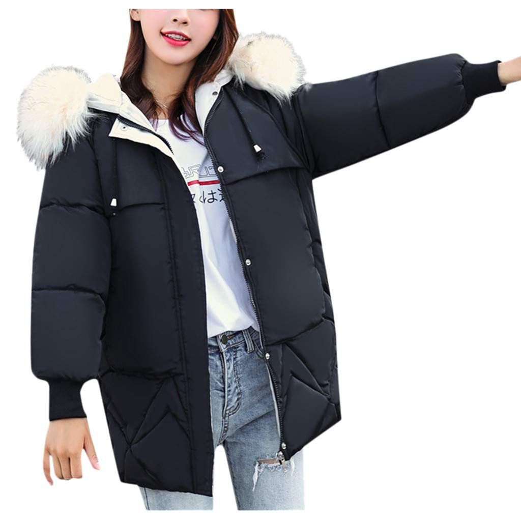 BBTshop Women Coats Jackets Outerwear Faux FurHooded Button Overcoat Hoodie Pocket Sweater Ladies Girls Outwear Tops Sweatshirt Warm Trench Long Sleeve Coat Blouses Suit Blazer Shirt Tailcoat by BBTshop
