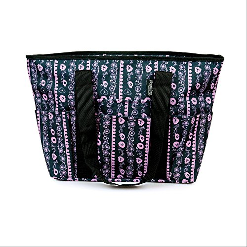 - Hopkins Signature Day Tote in Floral Stripe (Pink Dawn Floral)